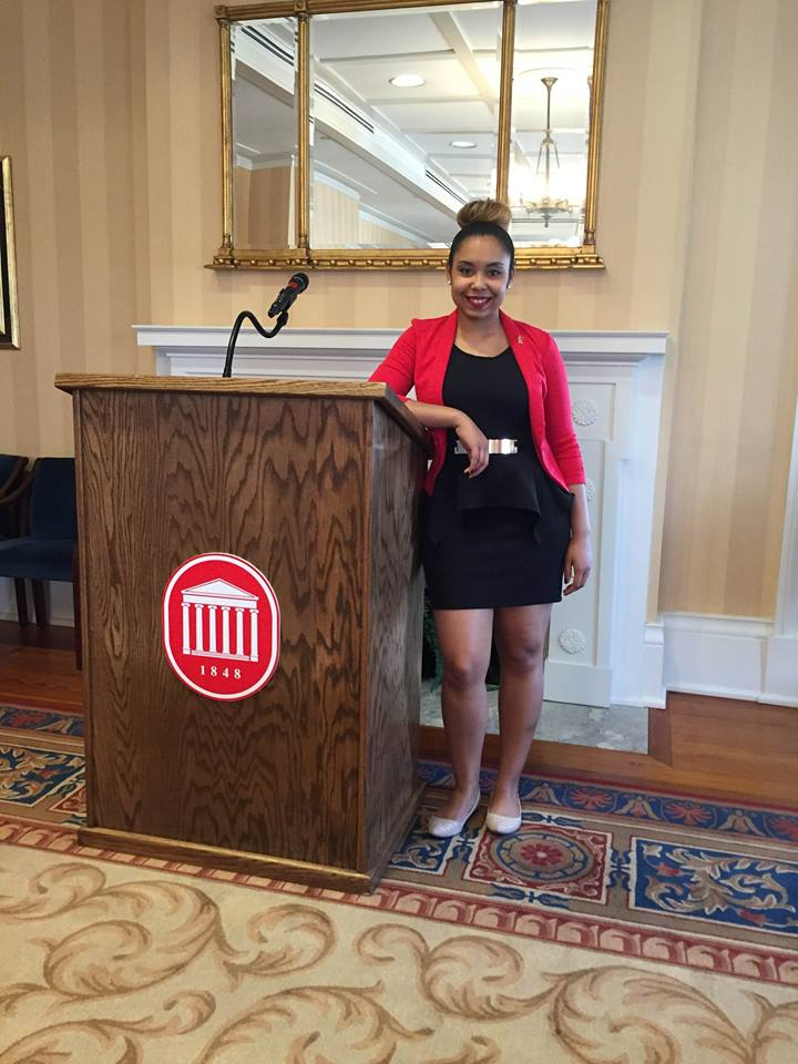 Congratulations to Junior Public Policy Leadership major, Tysianna Marino from Pascagoula, Mississippi on being named the George Treadway Pearson Diversity Award winner at the reception held on March 2, 2016.